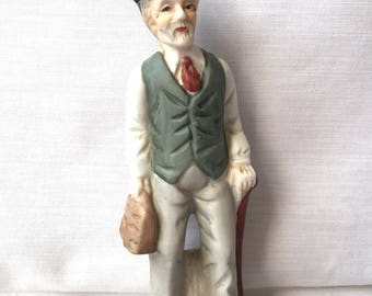Bisque Figurine of an Old Man - An Old Man Figurine