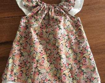 Girls Layered Flutter dress size 1  and size 2 summer dress girls dress flutter sleeve  toddler dress summer dress