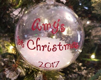 Personalised My 1st Christmas Tree Bauble - Any Name