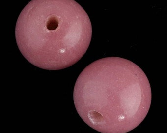 Chinese Peking glass beads in an opaque mauve, 20mm, 1 pc. b11-pp-1204(e)