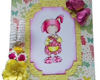Dressup Bunny Greeting Card