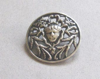 Antique Pierced Metal Mary Queen of Scots Buttons