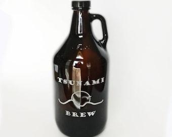 Personalized Growler - Craft beer - Homebrew - Brewery - growler - Oktoberfest - beer growler - custom glass growler - groomsmen growlers