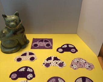 VW Beetle Fusible Backed Applique Pieces