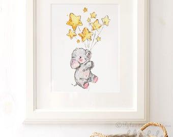 Elephant Nursery Wall Decor elephant nursery | etsy