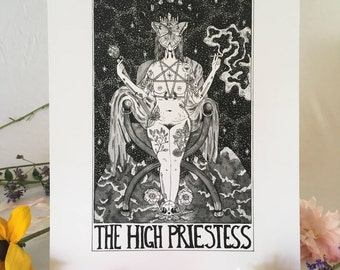 "Tarot Card Print • ""The High Priestess"" • by Madison Ross"