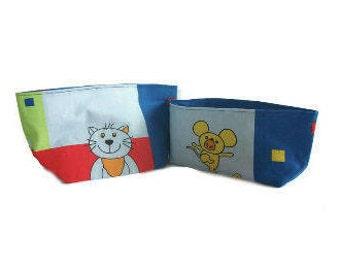 empty pockets baby multicolored fabric