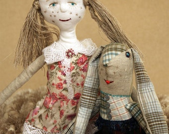 Rag doll/ Rag toy/ Christmas toy doll/ Soft doll/ Linen doll/ Eco friendly/ Toy doll/ Birthday girl gift/ Clothes doll/ Christmas gift doll/