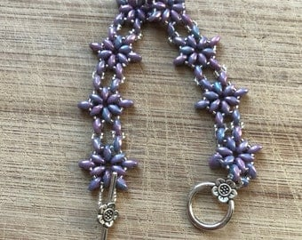 Beaded Bracelet, Floral Bracelet, Flower Bracelet