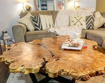 Custom Maple Burl Coffee Table