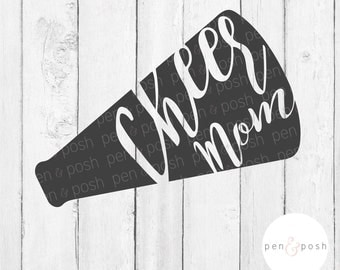 Cheer Mom SVG and Vector Instant Download with DXF Cut Files for Silhouette and Cricut -  ,  and eps