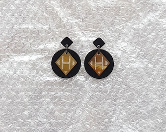buffalo horn earrings QG08