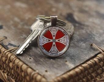 Viking Shield Keychain, Viking Keychain, Norse Keychain, Viking gift, men's Keychain, Symbol of Protection, norse Viking runes Keychain
