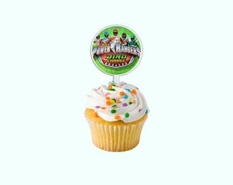 Power Rangers Dino Charge Cupcake Toppers