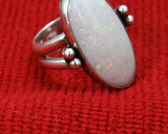 Opal ring set in Sterling Silver