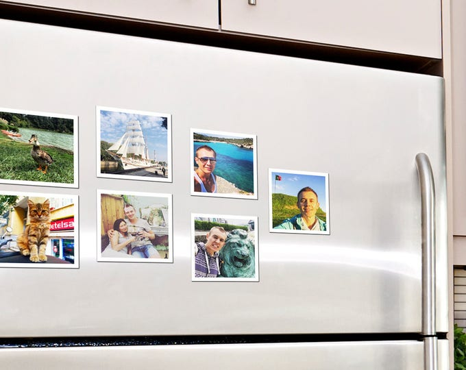 "75х75 mm | Set of 12 photo magnets. 2.95""х2.95"" 