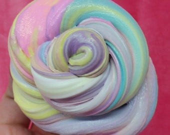 8 oz Rainbow Unicorn Butter Pillow Soft Stretchy Clay Slime Choose from 20 Scents Strawberry Cupcake Sugar Cookie Cotton Candy Bubblegum