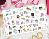 Deep Clean Planner Stickers for Erin Condren, Happy Planner, Fun days, Plum Paper, Filofax, Kikki K, TN, Cleaning, Home, To Do, Get It Done