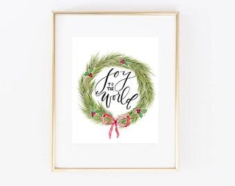 PHYSICAL/Joy to the World/Christmas 8x10 Print