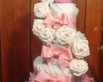 Perfect duck princess diaper cake