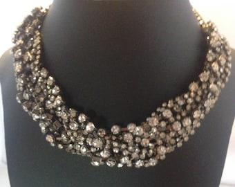 Glamorous, elegant, sparkly diamanté choker