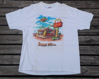 True Vintage 1994 90's Flintstones Movie Roc Donalds Summer 1994 A.D Made in USA t-shirt XL