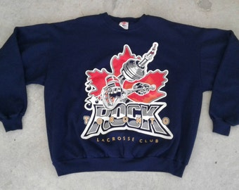 Vintage 90's Toronto Rock Lacrosse Club Crew Neck Sweatshirt Made in Canada large