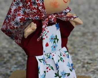 Grandma hand puppet