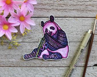 Waterproof Hand Drawn Giant Panda Sticker