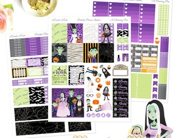 Monster Mash - Printable Planner Stickers - Instant Download