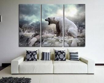 Polar Bear Bear Wall Art Bear Wall decor Bear Canvas Bear Poster Bear Print Bear Photo Bear Art Polar Bear Photo Wild Life Photo Animal