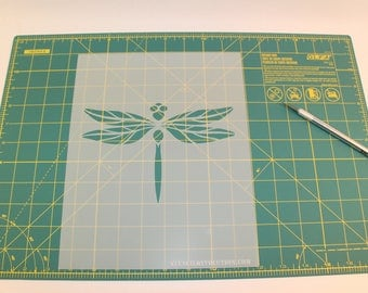 Dragonfly Stencil - Reusable DIY Craft Stencils of a Dragonfly