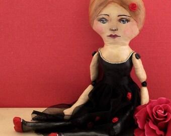 Ballerina Doll, Handmade Doll, Cloth Doll, Art Doll