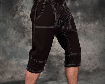 Cargo Baggy Shorts ~ pantalons Goa hommes ~ vêtements Tribal ~ Hippie Mens vêtements ~ Festival vêtements ~ Psy usure ~ terreux ~ vêtements psychédéliques ~ Psy Trance Goa