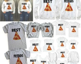 Best friend PIZZA, Best Friend shirts, Pizza Best Friends, Best Friend, Matching best friends, Each sold separately- Order 2 for the set!