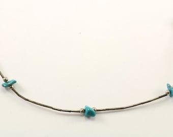 Vintage Navajo Turquoise Bracelet 925 Sterling BR 2231