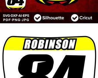 MX BMX Dirtbike Plate Number, 4 styles - SVG Cut File, dxf, Png, Eps, Pdf, Ai, Cricut, Silhouette Studio, Instant Download