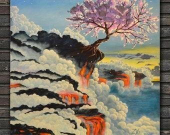 Sakura in lava