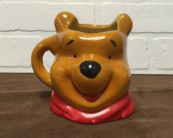 Rare 1970s Winnie the Pooh Head Mug