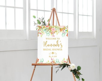 Welcome To Bridal Shower Sign Printable-Bridal Shower Printable-Bridal Shower Sign-Floral Wedding-Wedding Printable Bridal Shower Flowers