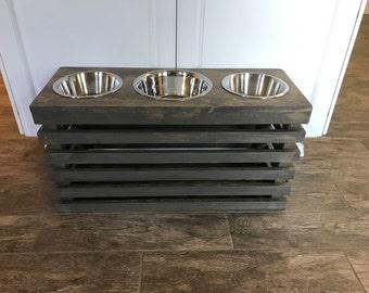 Dog Bowl Stand Etsy