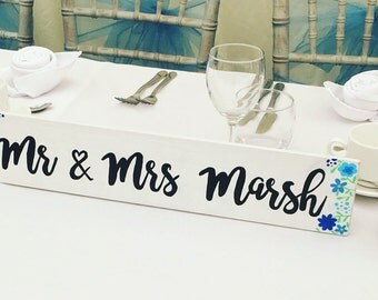 Mr and Mrs sign, top table sign, Mr and Mrs, Mr and Mr, Mrs and Mrs, new Mr and Mrs, wedding stationery, wedding sign, cake table sign