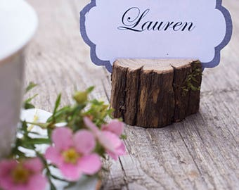 Set of 30 Wedding place card holder, rustic wooden name card holder, rustic wedding  table centerpiece