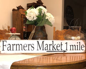 Rustic farmers market sign,Farmhouse sign