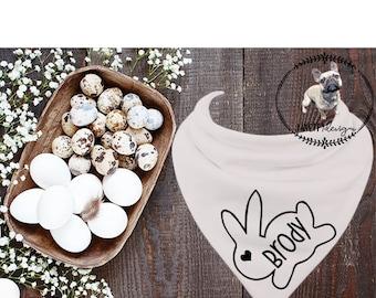 Easter NAME Bandana, Dog/Baby/Pet Bandana, Bandana, Dog Gift, Cat Gift, Pet Gift, Dog Accessories, Cat Accessories, Dog, Cat, Pet,