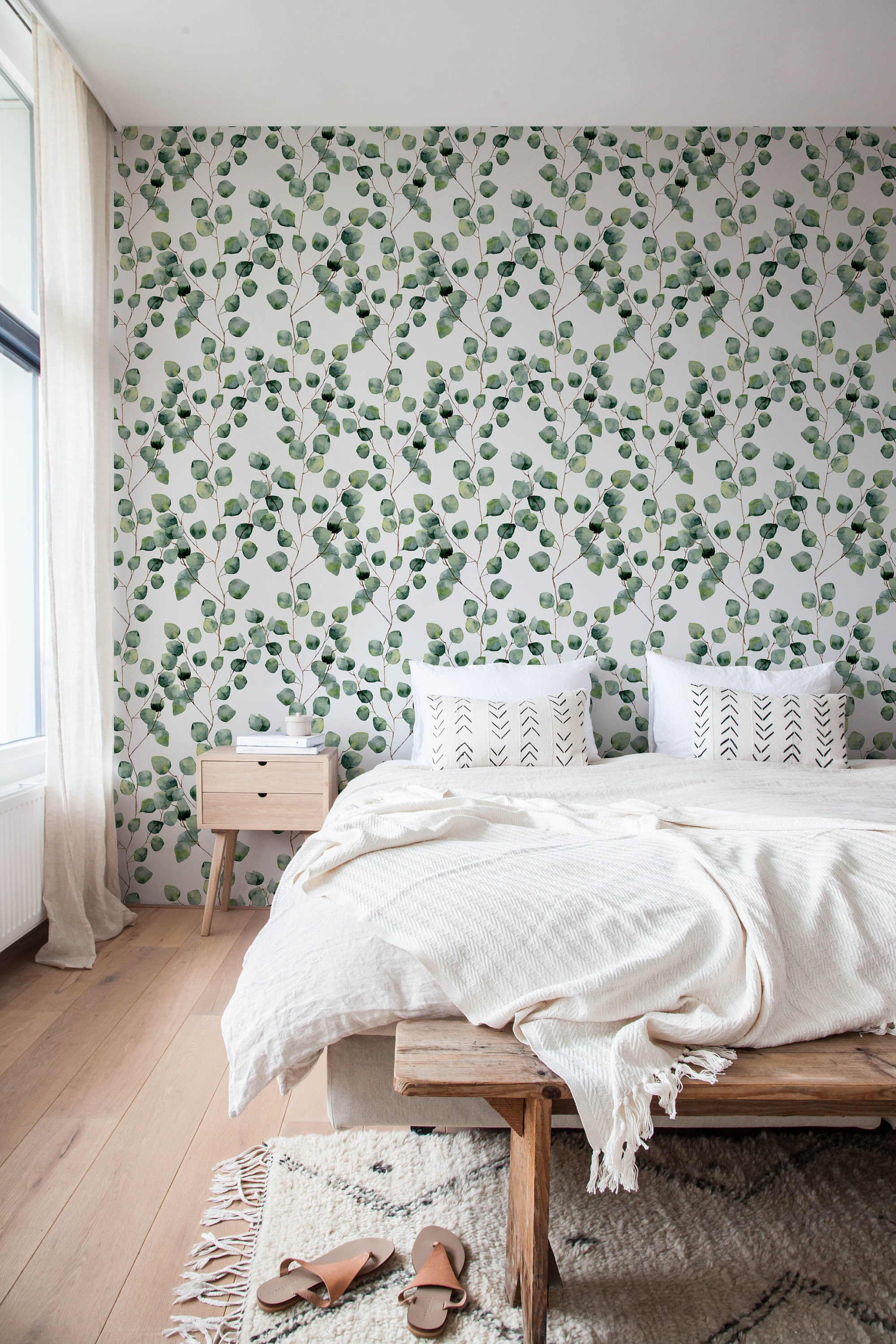 removable wallpaper cactus wallpaper peel and stick fabric