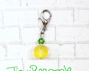 Pineapple Planner Charm - Skull Charms - Tropical Fruit Jewelry - Journal Clips - Kawaii Accessories - Book Charms - Goth Planner Charms