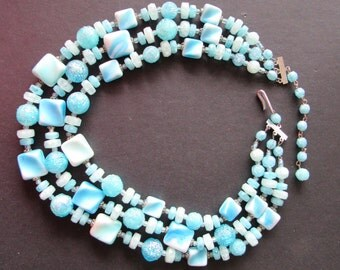 West Germany blue vintage choker