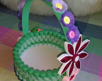 Paper Basket/ Quilled Basket
