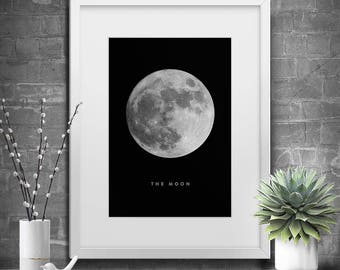 Printable Art, Moon, La Luna Print, Moon Print, Instant Download, Moon Photography, Moon Printable Art, Moon Art, Full Moon Poster, Wall Art